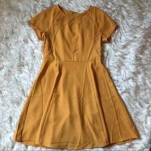 Large Mustard ModCloth Mid-length Dress